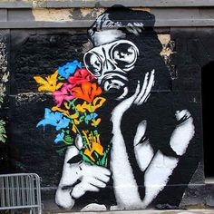 """behind_streetart: """"GOIN has some great prints for sale. Check out his feed (@goin.art ) #streetartist: GOIN #streetart title: #Fukushima #Flowers where: #Bordeaux #France created: #2015 who is the #global #artist: Not much is know about the #French street and stencil artist. His works is political and powerful and can be found in France #Greece #Bristol #Congo #Geneva #Lisbon #Rome amongst many other cities. Very #cool work. Check out and make sure you follow @goin.art #goin #artofgoin…"""