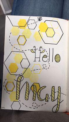 Mon mois de mai aux couleurs de Maya l'abeille  Bullet journal de mai