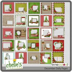Digital Scrapbook Quickpages - December Daily | Chelle's Creations