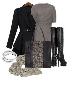 """outfit"" by mkomorowski ❤ liked on Polyvore featuring STELLA McCARTNEY, Lanvin, AllSaints and DKNY"