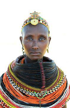 Africa | Rendille woman.  Northern Kenya | ©Boaz Images