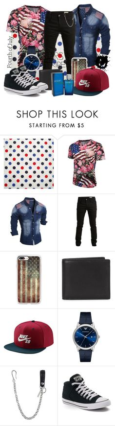 """""""049 Stars and Stripes"""" by berry2206 on Polyvore featuring SELECTED, Casetify, Coach 1941, NIKE, Emporio Armani, Dsquared2, Converse, Joop!, men's fashion und menswear"""