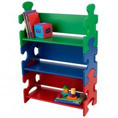 Bunt lackiertes Bücherregal - lustiges KidKraft Modell Puzzle