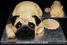 Pug Birthday Cakes