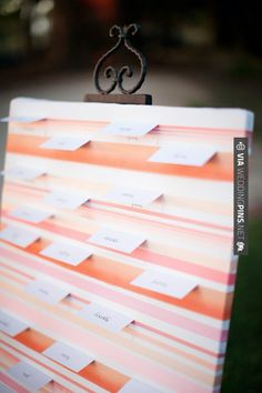 Sweet - Escort Card Display ~ Photography by | CHECK OUT MORE GREAT PINK WEDDING IDEAS AT WEDDINGPINS.NET | #weddings #wedding #pink #pinkwedding #thecolorpink #events #forweddings #ilovepink #purple #fire #bright #hot #love #romance #valentines #pinky