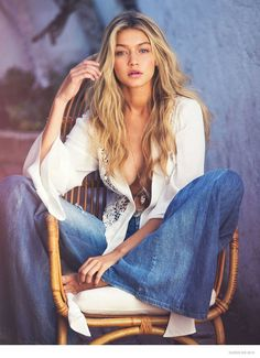 Guess' spring-summer 2015 campaign starring American model Gigi Hadid.