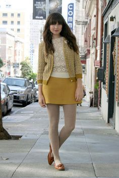 A perfect new cardigan, a trusty old skirt, warm sweater tights… I love Fall clothes.  See more photos on my blog, Fancy Fine!