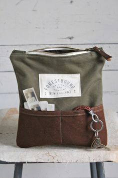 WWII era Canvas Pocket Utility Pouch - FORESTBOUND