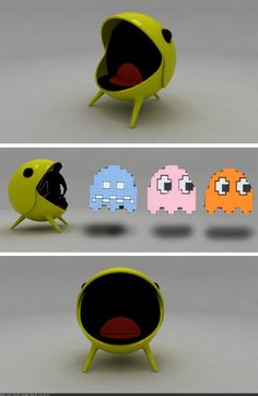 """The """"PacM"""" chair // Pac-Man come to life! This would be AWESOME in a game room, or a kids room, or for anyone who loves video games of the classic variety"""