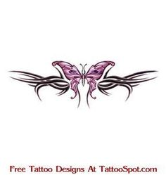 Lower Back Tattoos | ... / Free Lower Back Tattoo Designs / Lower Back Butterfly Tattoo