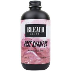BLEACH LONDON Rose Shampoo Bleach London Rose Shampoo, Pastel Pink Hair, Light Blonde Hair, Hair Cleanse, Hair Care Brands, Soft Pink Color, Color Shampoo, Sulfate Free Shampoo, Wet Hair