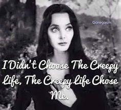 Darkladys Horror Halloween Page Die Addams Family, Addams Family Quotes, Adams Family, Goth Quotes, Me Quotes, Funny Quotes, Goth Memes, Funny Humor, Qoutes