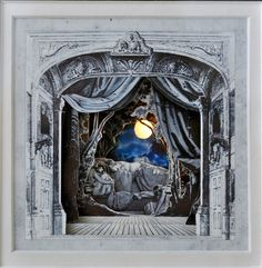 """Sleeping Beauty"" light-up paper theatre by Rebecca Sims"