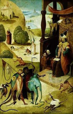 hieronymous bosch art | ... Bosch - St.Jacques and the magician Hermogenes by Hieronymus Bosch