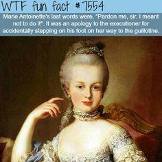 Marie Antoinette's last words - WTF fun facts