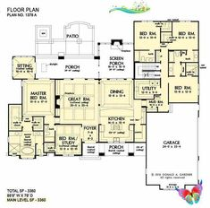 One Story House Plans | Ranch Home Plans | Don Gardner<br> House Plans One Story, One Story Homes, Ranch House Plans, Cottage House Plans, Craftsman House Plans, New House Plans, Dream House Plans, Story House, Modern House Plans