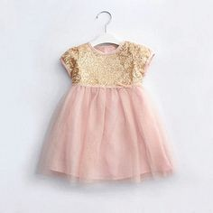 1 year old baby dress frock designs girl christmas first birthday party wedding gold sequins pink evening dress clothes 80012-in Dresses from Kids & Mothercare on Aliexpress.com | Alibaba Group