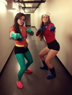 My friend and I are going as mermaid man and barnacle boy as Halloween so I need all the materials for it! Both mermaid man and barnacle boy (Best Friend ...  sc 1 st  Pinterest & 25 Genius BFF Halloween Costume Ideas You Need to Try | Fall ...