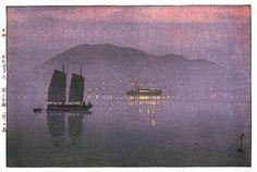 hanga gallery . . . torii gallery: Konoshima by Hiroshi Yoshida   1930