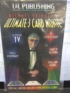 3 CARD MONTE TRICK ULTIMATE MICHAEL SKINNER MAGIC BICYCLE CARDS BLUE Collectibles:Fantasy, Mythical & Magic:Magic:Tricks www.webrummage.com $9.99