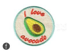 I love avocado Iron On Patch (6.00 USD) by FerdinandWorks