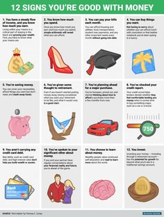 12 signs you're better with money than you realize - Finance tips, saving money, budgeting planner Financial Literacy, Financial Tips, Financial Planning, Financial Quotes, Financial Peace, Money Tips, Money Saving Tips, Money Budget, Money Saving Challenge