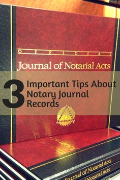 Your Notary Journal Contains A Lot Of Valuable Information Make Sure You Are Protecting It