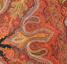 Jacquard Woven Paisley Shawl 1926 Textile by SurrenderDorothy