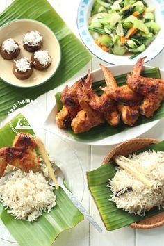 Nasi Lemak Lover: Lemongrass Rice and Honey Grilled Chicken Wings 香茅饭和烤蜜糖鸡翅