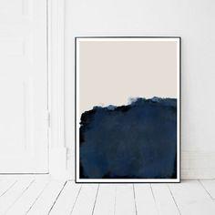 Indigo Prints Navy Blue Artwork Indigo Abstract Print