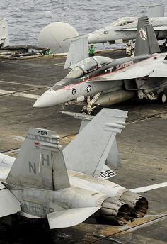 "Randomly came across this... Black Knight Pride. Once a Knight, always a Knight. F/A-18F Super Hornet, assigned to the ""Black Knights"" of Strike Fighter Squadron (VFA) 154, for take off from the aircraft carrier USS Nimitz (CVN 68). Nimitz Aug. 28."