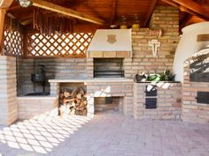 Kemax - Budaörsi kerti konyha Outdoor Kitchen Design, Home Decor Kitchen, Outdoor Fireplace Designs, Backyard Pavilion, Outdoor Entertaining, Outdoor Living, Bbq, House Styles, Garden