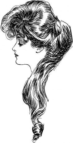 Evelyn nesbit, charles dana gibson, the eternal question, Gilded Age, vintage