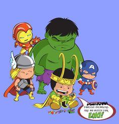 The Avengers  – Captain America – Steve Rogers  - Tony Stark - Iron Man - The Hulk – Bruce Banner - Thor - Loki