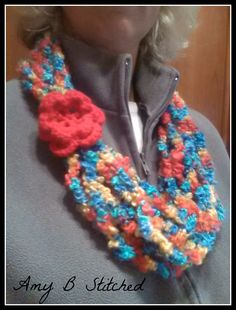A Stitch At A Time for Amy B Stitched: What to do with your BUMPY, BOBBLY and HAIRY yarn stash?!?!? MAKE A SCARF!!!