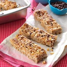 Granola Cereal Bars Recipe - would substitute something for the corn syrup but otherwise sounds like a fun snack!