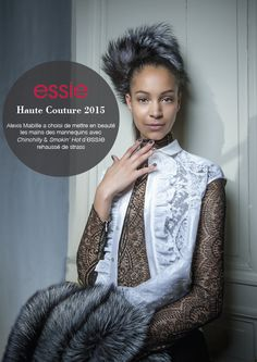 Alexis Mabille loves 'chinchilly' and 'smokin hot' at Day 2 of Paris Haute Couture.. #essie #on #the #catwalk #fashion
