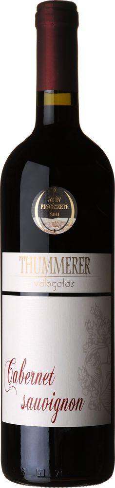 Thummerer Cabernet sauvignon válogatás Hungarian wine High quailty Cabernet Sauvignon, Wines, Vodka Bottle
