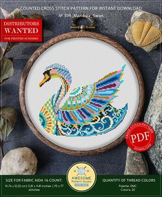 Hey, I found this really awesome Etsy listing at https://www.etsy.com/listing/568474228/mandala-swan-cross-stitch-pattern-for