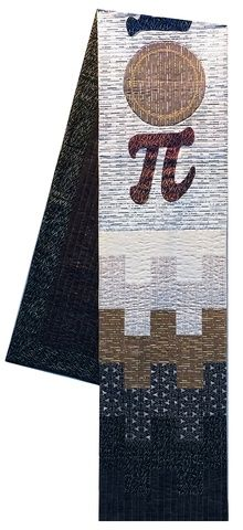 "Pi Table Runner, 14 x 94"", fabrics and quilting by Lonni Rossi"
