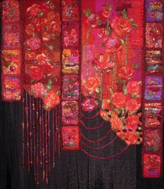 jbe200quilts:    South African quilt by Shirley Prakke, 'Come to MY Garden'.