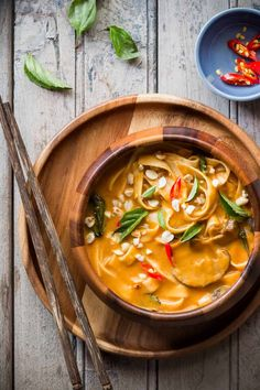 Spicy Thai Curry Pumpkin Noodle Soup - My Food Story