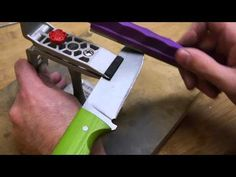 How To Sharpen a Knife using a Lansky Sharpening System - YouTube