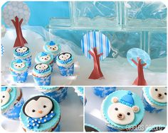 penguin and polar bear cupcakes #winterwonderland #party {catch my party}