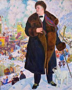 Портрет Ф.И. Шаляпина - Борис Кустодиев