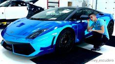 Lamborghini Gallardo 2011 - Blue Chrome Wrap