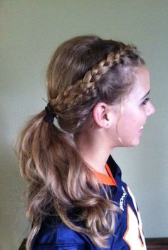 pin hair styles braided ponytail ponytails for sports beautiful hair 4125