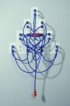 Image result for electrical outlet sculpture Electrical Cord, Electrical Outlets, Sculpture Projects, Junk Art, Project 4, Assemblage Art, Electronic Art, Stage Design, Showroom