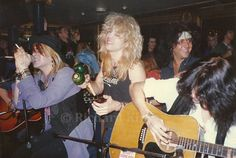 Steven Adler with the   Faster Pussycat, Live?!*@ Like A Suicide record release party atthe Cathouse in Beverly Hills, 1986