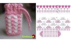 Crochetpedia: Lots of Crochet Purse Patterns and mobile purse patterns! Clutch En Crochet, Crochet Pouch, Crochet Chart, Crochet Gifts, Diy Crochet, Crochet Bags, Mobiles En Crochet, Crochet Mobile, Crochet Handbags